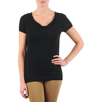 textil Dame T-shirts m. korte ærmer La City PULL COL BEB Sort