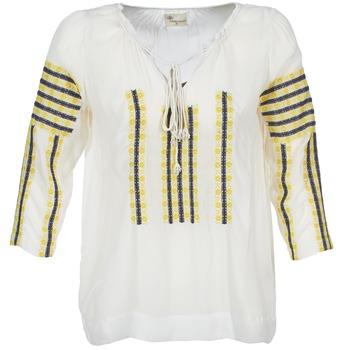 textil Dame Toppe / Bluser Stella Forest ATU025 Hvid / Grå / Gul