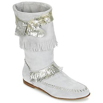 Sko Dame Chikke støvler Now MATELI Grå / Sølv