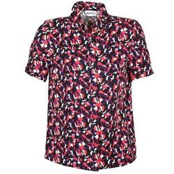 textil Dame Skjorter m. korte ærmer American Retro NEOSHIRT Sort / Pink / Orange