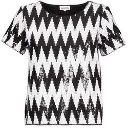 textil Dame T-shirts m. korte ærmer American Retro GEGE Sort / Hvid