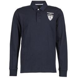 textil Herre Polo-t-shirts m. lange ærmer Serge Blanco RUGBY LEAGUE Marineblå
