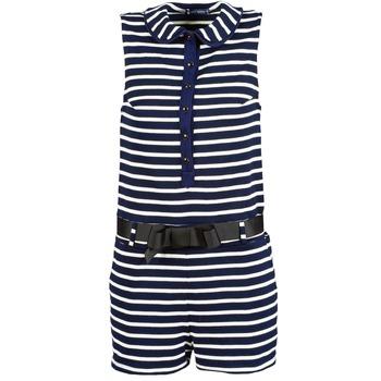 textil Dame Buksedragter / Overalls Petit Bateau FAITOUT Marineblå / Hvid