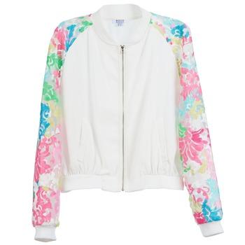 textil Dame Jakker Brigitte Bardot BB44045 Hvid / Flerfarvet