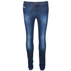 textil Dame Smalle jeans Diesel SKINZEE Blå