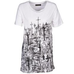 textil Dame T-shirts m. korte ærmer Religion B123CND13 Hvid