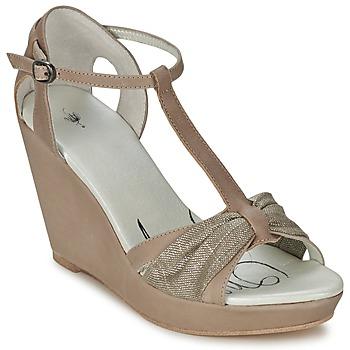 Sko Dame Sandaler One Step CEANE Muldvarpegrå / Gylden / Muldvarpegrå