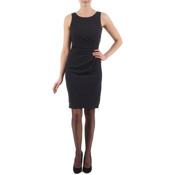 textil Dame Korte kjoler Esprit BEVERLY CREPE Sort