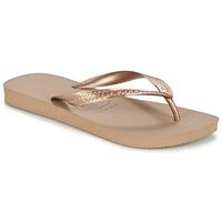 Sko Dame Flip flops Havaianas TOP METALLIC Pink / Guld