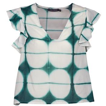textil Dame T-shirts m. korte ærmer Antik Batik BAB Hvid / Grøn