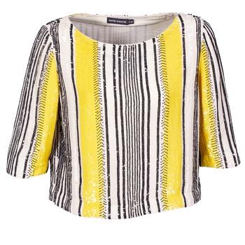 textil Dame Toppe / Bluser Antik Batik ZABOU Gul / Hvid / Sort