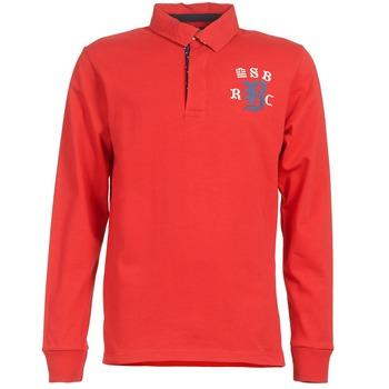 textil Herre Polo-t-shirts m. lange ærmer Serge Blanco MATO Rød