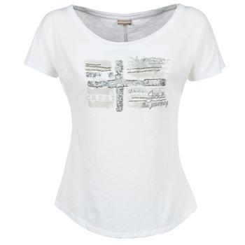 textil Dame T-shirts m. korte ærmer Napapijri SINK Hvid