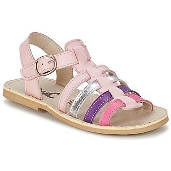 Sko Pige Sandaler Citrouille et Compagnie JASMA Pink / Violet