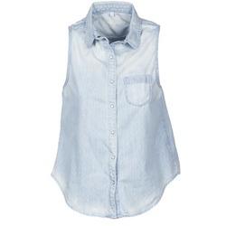 textil Dame Skjorter m. korte ærmer Pepe jeans POCHI Blå