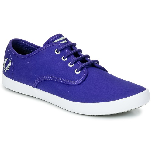 Sko Herre Lave sneakers Fred Perry FOXX TWILL Violet