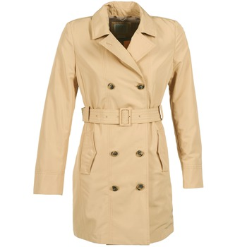 textil Dame Trenchcoats Geox LAURA Beige