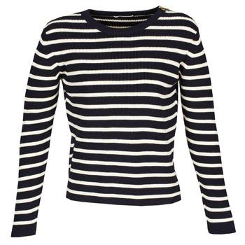 textil Dame Pullovere Acquaverde MAS Marineblå / Beige