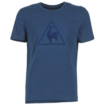 textil Herre T-shirts m. korte ærmer Le Coq Sportif ABRITO T Marineblå