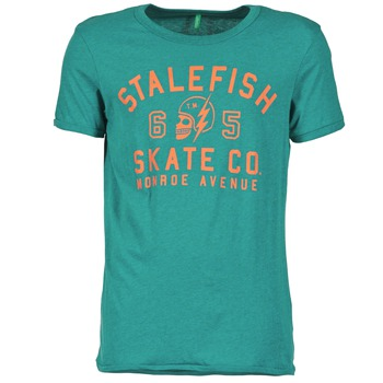 textil Herre T-shirts m. korte ærmer Benetton IXIDINE Grøn