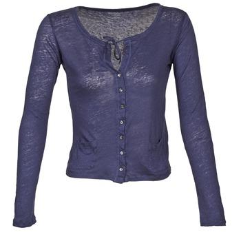 textil Dame Veste / Cardigans Majestic BATHILDE Blå