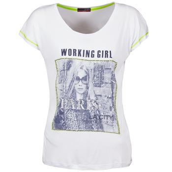 textil Dame T-shirts m. korte ærmer La City TMCD3 Hvid