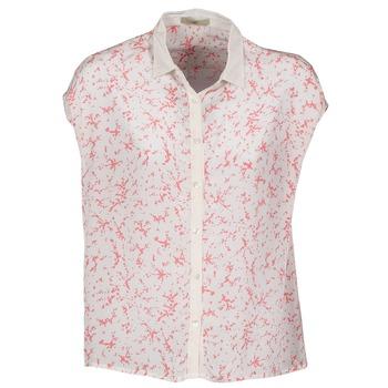 textil Dame Skjorter m. korte ærmer Lola CANYON Hvid / Rød