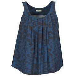 textil Dame Toppe / T-shirts uden ærmer Lola CUBA Blå / Sort