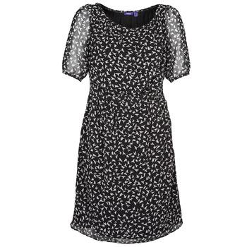 textil Dame Korte kjoler Mexx 13LW130 Sort / Hvid