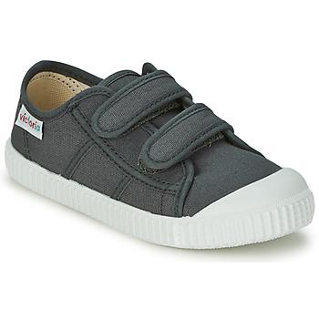 Sko Børn Lave sneakers Victoria BLUCHER LONA DOS VELCROS Antracit