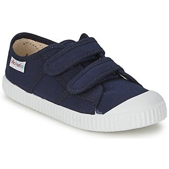 Sko Børn Lave sneakers Victoria BLUCHER LONA DOS VELCROS Marineblå