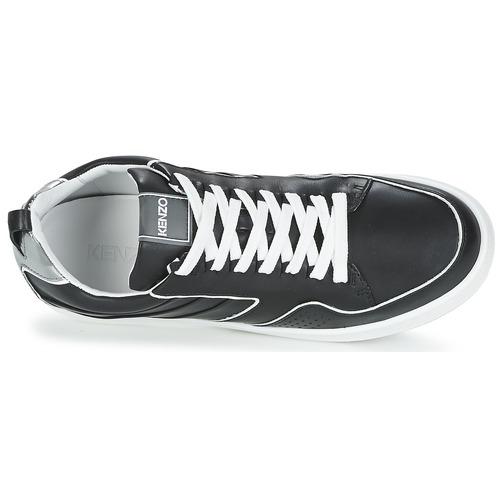 Kenzo K-FLY Sort / Sølv - Gratis fragt- Sko Lave sneakers Dame 1711,00