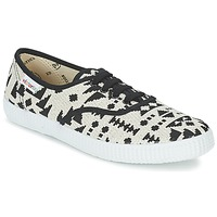 Sko Dame Lave sneakers Victoria INGLES GEOMETRICO LUREX Beige / Sort