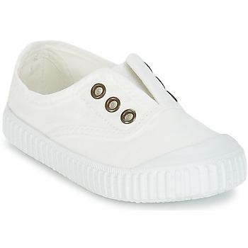 Sko Børn Lave sneakers Victoria INGLESA LONA TINTADA Hvid