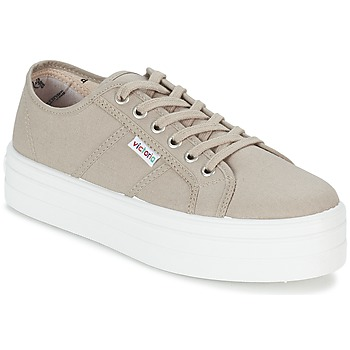 Sko Dame Lave sneakers Victoria BLUCHER LONA PLATAFORMA BEIGE