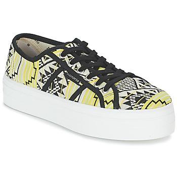 Sko Dame Lave sneakers Victoria BASKET ETNICO PLATAFORMA Sort / Gul