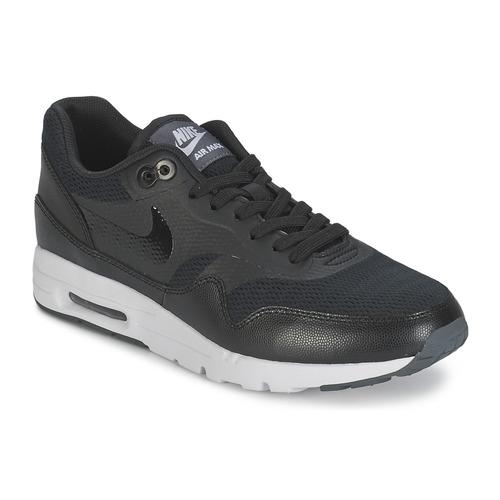 6c43c4ed646 Nike AIR MAX 1 ULTRA ESSENTIAL W Sort - Gratis fragt   Spartoo.dk ...