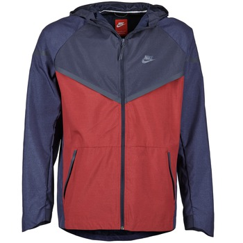 textil Herre Vindjakker Nike TECH WINDRUNNER Rød / Marineblå / Grå