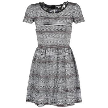 textil Dame Korte kjoler Manoush BIJOU ROBE Sort / Grå