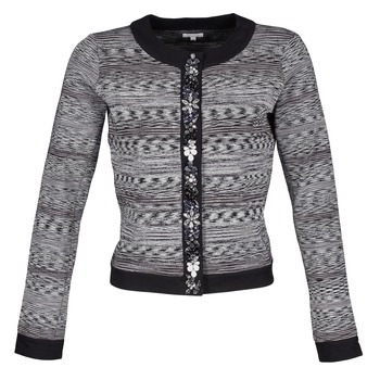 textil Dame Jakker / Blazere Manoush BIJOU VESTE Sort / Grå
