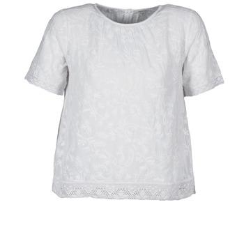 textil Dame T-shirts m. korte ærmer Manoush COTONNADE SMOCKEE Hvid