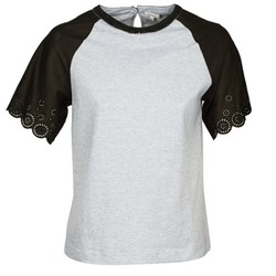 textil Dame T-shirts m. korte ærmer Manoush FANCY Grå / Sort