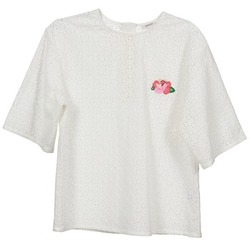 textil Dame Toppe / Bluser Manoush FLOWER BADGE Hvid