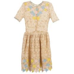 textil Dame Korte kjoler Manoush ROSES Beige