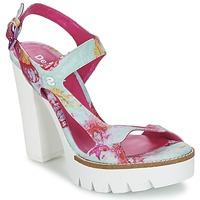 Sko Dame Sandaler Desigual VENICE TURKIS / Pink