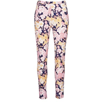 textil Dame Lærredsbukser Gant 414705 Pink / Blå