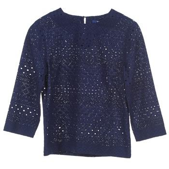 textil Dame Toppe / Bluser Gant 431951 Blå