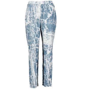 textil Dame Løstsiddende bukser / Haremsbukser Vila GRUNGE ME Blå / Hvid