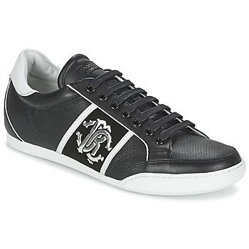 Sko Herre Lave sneakers Roberto Cavalli 7779 Sort