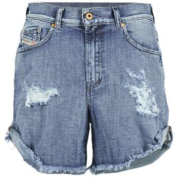 textil Dame Shorts Diesel DE SCOTT Blå